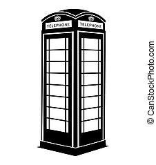 Cabina Telefonica Inglese Simbolo Telefono Uno Strada Cabina Regno Unito Rosso Canstock