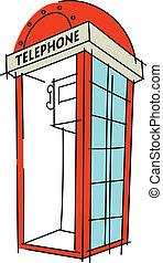 cabine téléphonique, icône