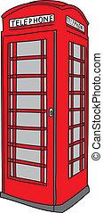 cabine téléphonique, rouges