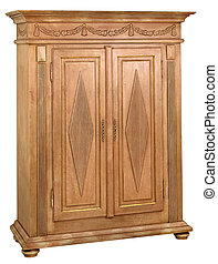 Cabinet in the style of period furniture on white background