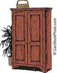 cabinet, bois