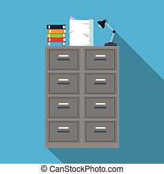cabinet file archive books document lapm office blue background