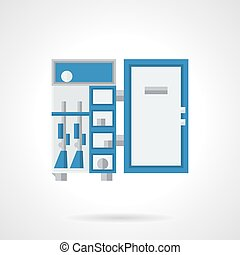 Cabinet for weapons flat color design vector icon