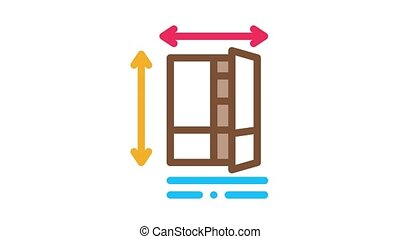 cabinet sell Icon Animation. color cabinet sell animated icon on white background