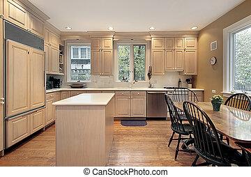 cabinetry, kök, ek