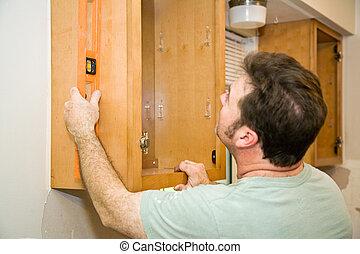 cabinets, -, installation, niveler
