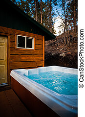 Cabins in Pinetop AZ, in the winter.