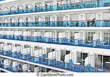 Cabins of a modern cruise ship
