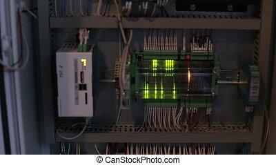 cable électrique, circuit électrique, connecté, casseur, cabinet.