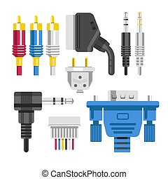 Cable and connector adapter and plug technology devices...