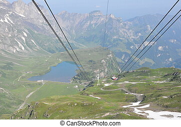Cable Car at Mount Titlis in Switzerland