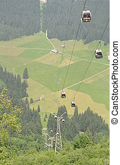 Cable Car Gondola at Mount Titlis in Switzerland