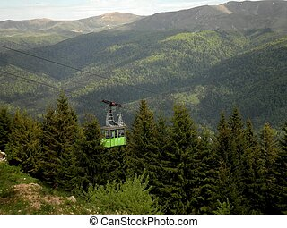 Cable Car in Forest