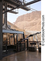 Cable car in Masada