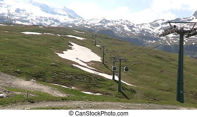 Cable car in the mountains