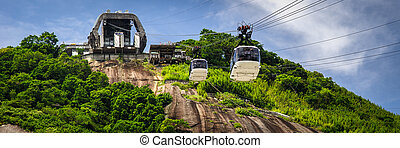 Cable car station on mountain - Cable car station on...