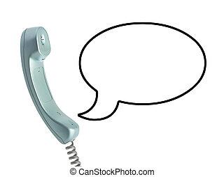 cable de teléfono, receptor