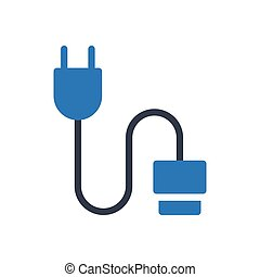 cable glyph color icon