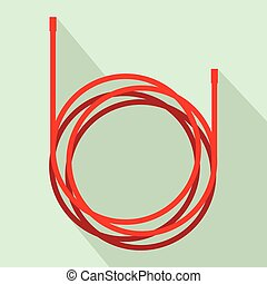 Cable icon, flat style