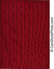 Cable Knit - Background of red cable knit pattern
