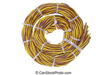 cable, manojos, en, datos, red