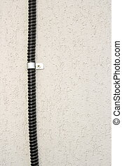 cable on wall