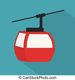 cable railway icon- vector illustration