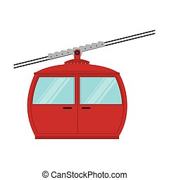 cable railway transport cabine vector graphic icon