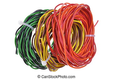 Cable scraps after installation