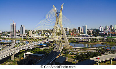 Cable-stayed bridge - Bridge in Sao Paulo, Brazil