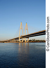 Cable-Stayed Bridge. - Cable-Stayed Bridge in St.Petersburg,...