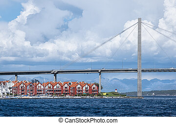 Cable-stayed bridge in Stavanger.
