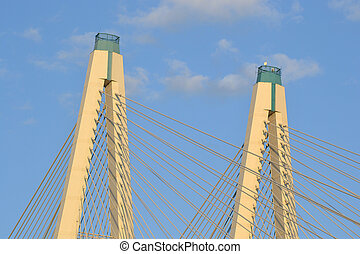 Cable-Stayed Bridge in St.Petersburg, Russia.