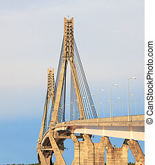 Cable-Stayed Bridge of Raippaluoto around Vaasa, Finland