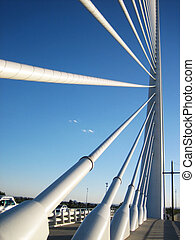 Cable-stayed bridge - View from the down of a spanish...
