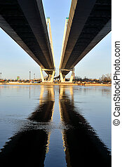 Cable-stayed bridge - View of the cable-stayed bridge. St....