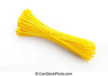 Cable tie in yellow