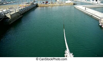 cable tie yacht on water at Pier