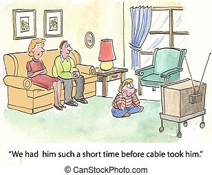 cable, tomó, él