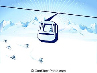 cable-way, 冬 スポーツ