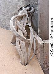 cableado, -, eléctrico, renovación