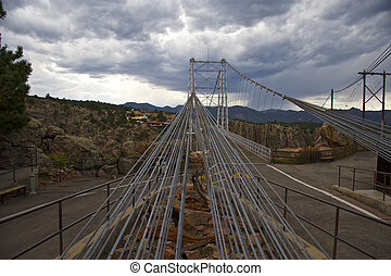 Cables on Suspension Bridge