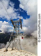 cableway in Dolomites