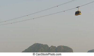 Cableway in Ha Long City Vietnam.