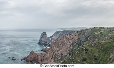 Cabo da Roca (Cape Roca) forms the westernmost mainland of...