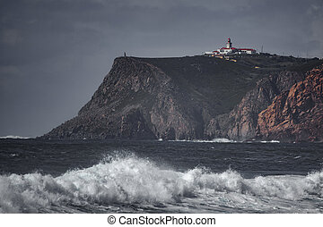 Cabo da Roca Lighthouse, the end of Europe - Cabo da Roca...