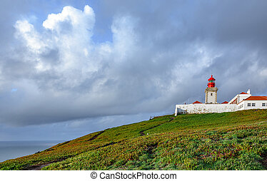 Cabo da Roca Lighthouse, the end of Europe - Lighthouse in...