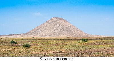 cabo, sal, isola, arido, verde, capo, buracona, paesaggio