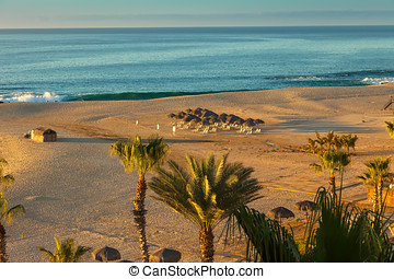 Cabo San Lucas - Morning view of the Sea of Cortez and beach...