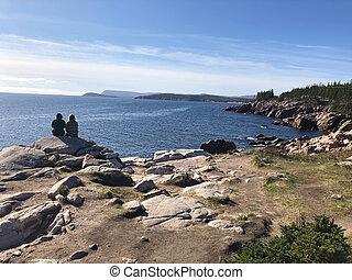cabot, oceânicos, rastro, ao longo, scotia, capa, atlântico, nova, paisagem, breton